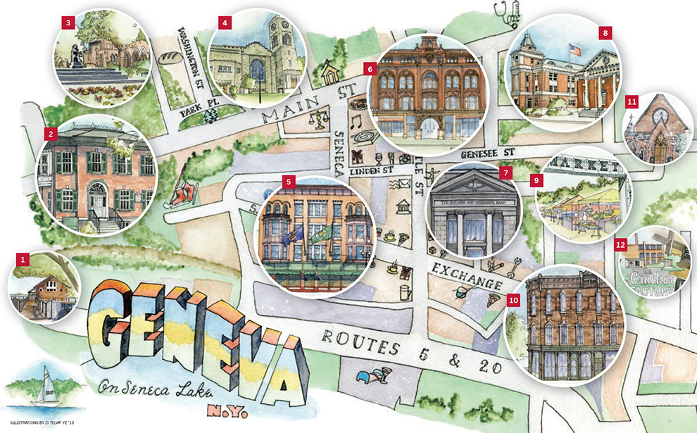 Geneva College Campus Map.The Pulteney St Survey