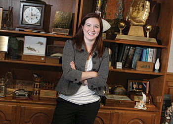 Nicole Caravella '10 worked in the office of Senator Edward Kennedy.