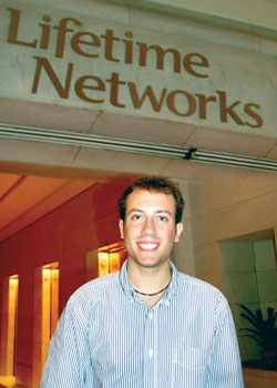 Christopher Drake '10 interned at Lifetime Television headquarters in New York City.