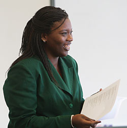 Photo of Lauren Alleyne in the Classroom