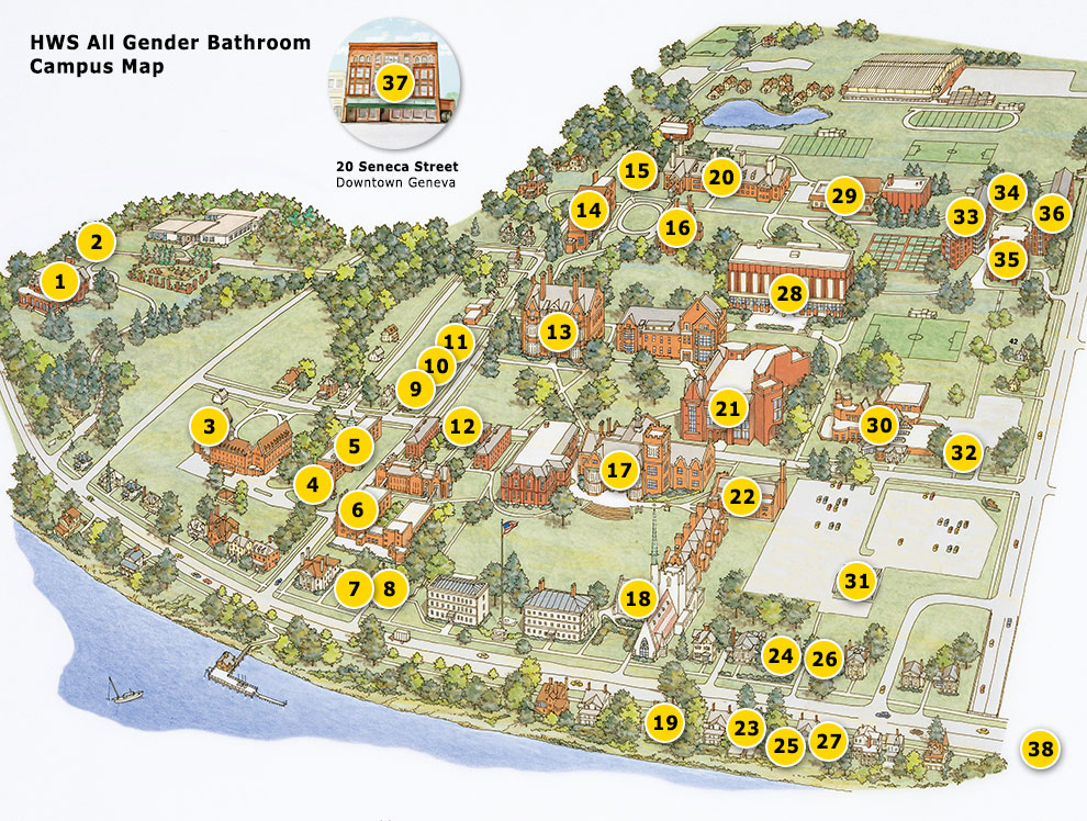 Geneva College Campus Map.Hws Campus Maps